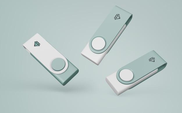 Usb-stick-modell für das merchandising Kostenlosen PSD