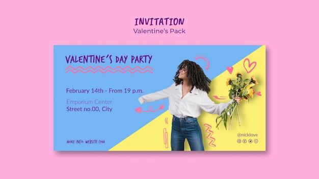 Valentinstag einladungsvorlage Kostenlosen PSD