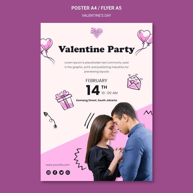 Valentinstag flyer vorlage Kostenlosen PSD