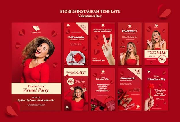 Valentinstag instagram geschichten Kostenlosen PSD