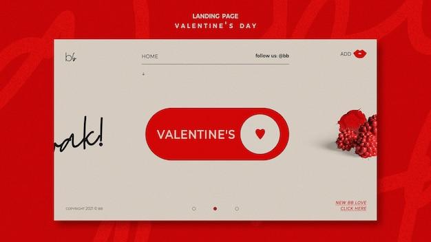 Valentinstag landing page Kostenlosen PSD