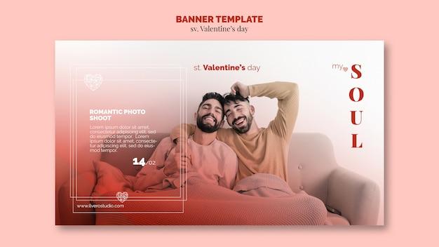 Valentinstag mein seelenbannerpaar Kostenlosen PSD