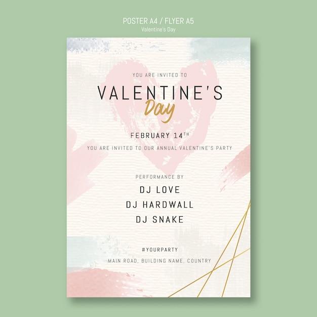 Valentinstag-party einladungsplakat Kostenlosen PSD