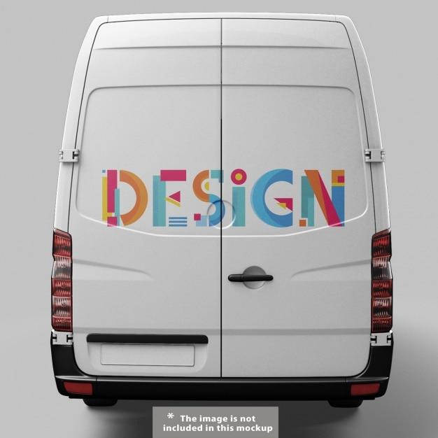 Van mock-up-design Kostenlosen PSD