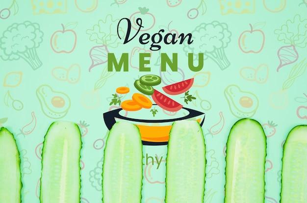 Veganes menü mit bio-gurke Kostenlosen PSD
