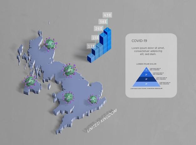 Verbreitung der coronavirus-karte großbritannien Kostenlosen PSD