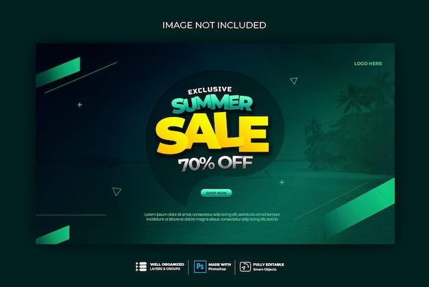Verkauf banner abzeichen web banner vorlage Premium PSD
