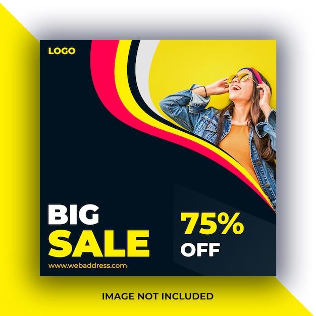 Verkauf social media beiträge banner Premium PSD