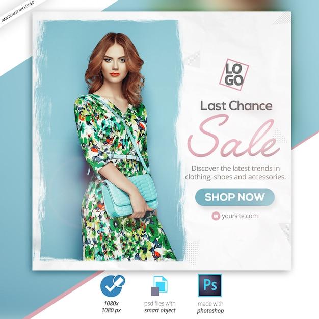 Verkauf social media web banner ad Premium PSD