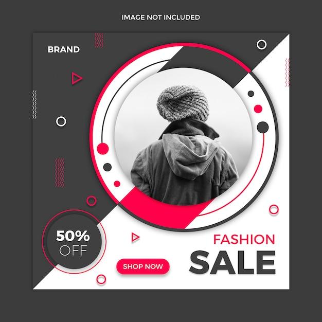 Verkaufs-social media-beitragsschablonendesign Premium PSD