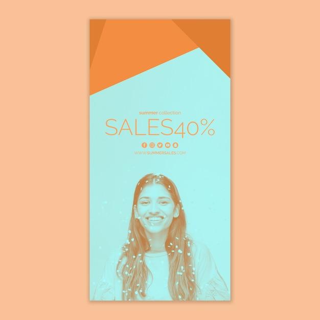 Verkaufsfahnenschablone mit bild Kostenlosen PSD