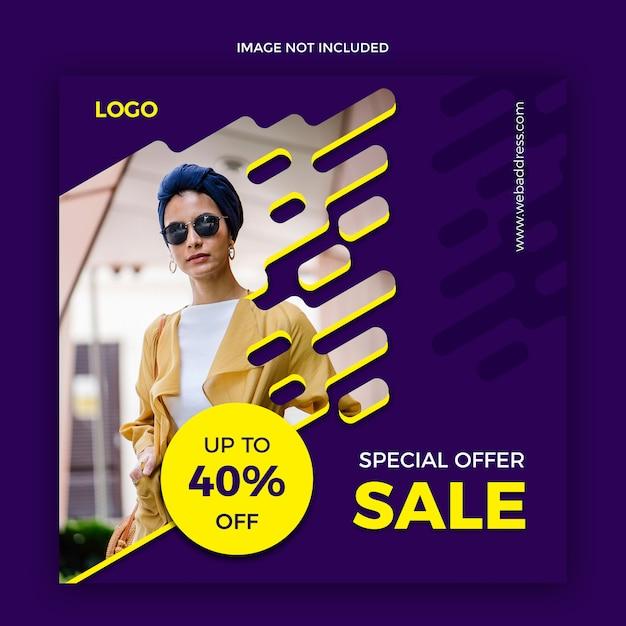 Verkaufsnetz-social media-fahnenschablone Premium PSD
