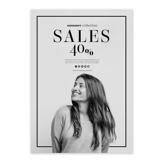Verkaufsposter-vorlage Kostenlosen PSD