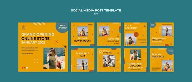 Verkaufsvorlage social media post vorlage Premium PSD