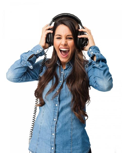 Verrückter teenager musikgenuss Kostenlosen PSD