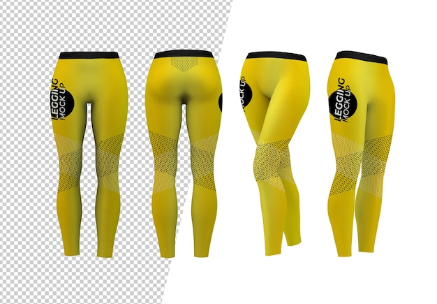Verschiedene leggings modell isoliert Premium PSD