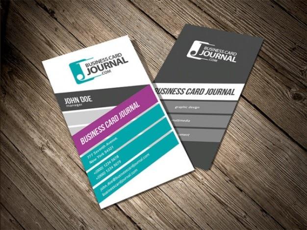 Vertikalen Visitenkarten Design Download Der Kostenlosen Psd