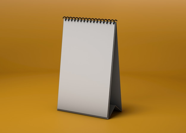 Vertikales kalenderstudio-modell Kostenlosen PSD