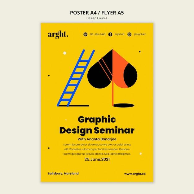 Vertikales poster für grafikdesignklassen Kostenlosen PSD