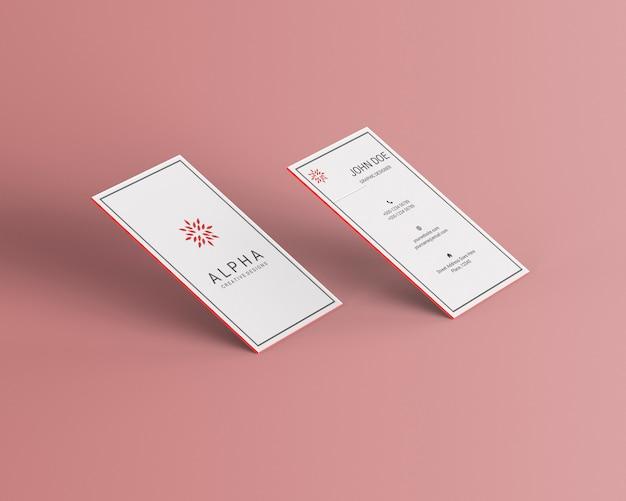 Vertikales visitenkartenmodell Premium PSD