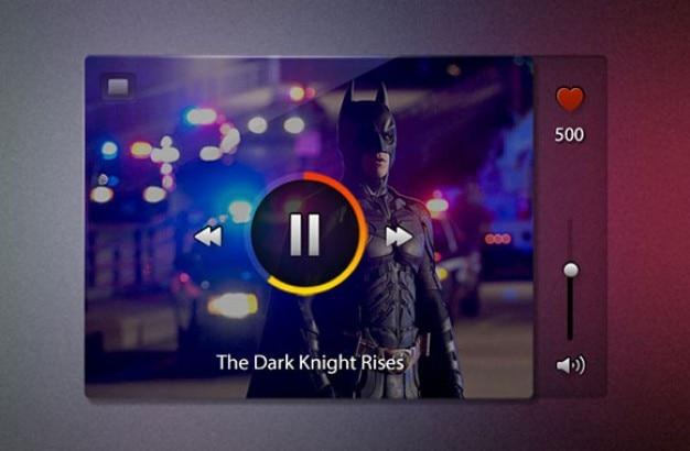 Video-player mit superhelden psd Kostenlosen PSD