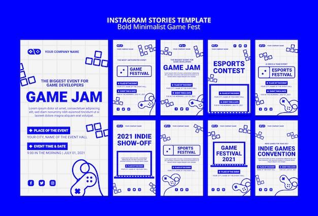 Videospiele jam fest instagram geschichten vorlage Kostenlosen PSD