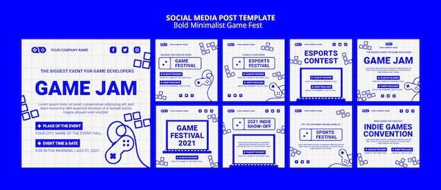 Videospiele jam fest social media post Kostenlosen PSD