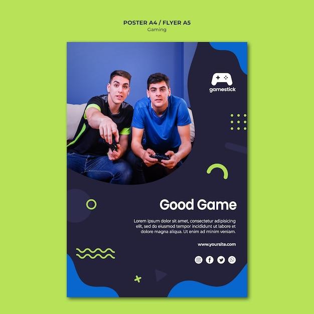 Videospielplakatvorlage Kostenlosen PSD