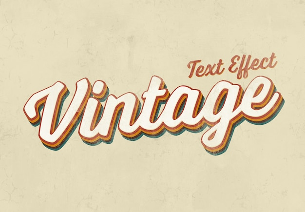Vintage texteffektmodell Premium PSD