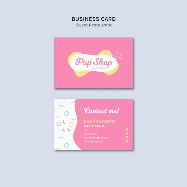 Visitenkarte für pop candy shop design Kostenlosen PSD