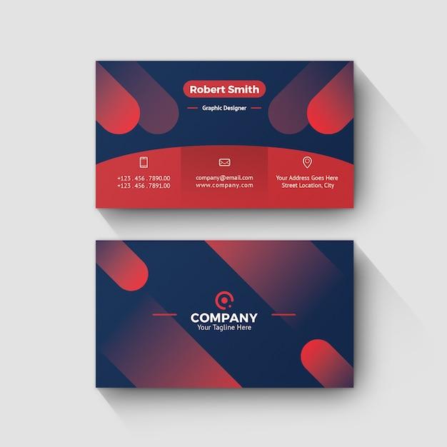 Visitenkarte-persönlicher name card with gradient background Premium PSD