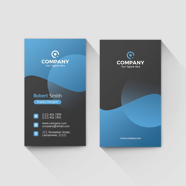 Visitenkarte Vorlage 0080 Premium Psd Datei