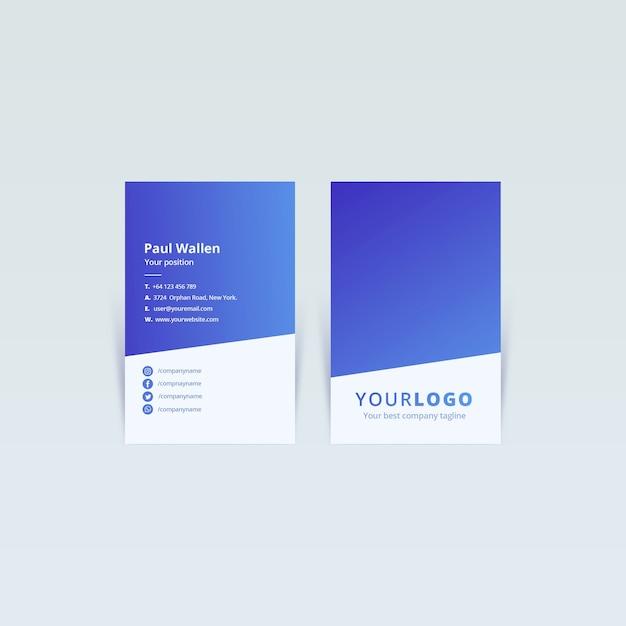 Visitenkarte Web Template Konzept Download Der Kostenlosen Psd