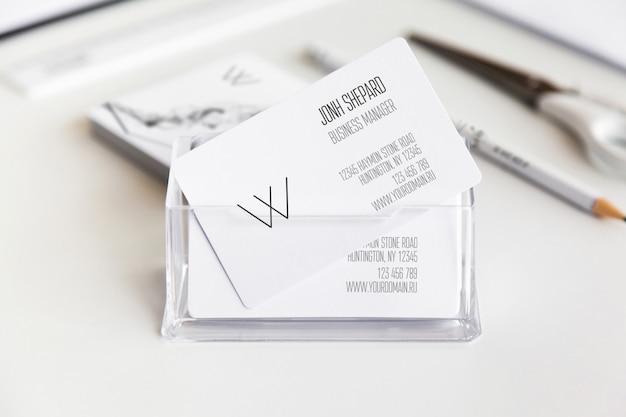 Visitenkarten-mock-up Premium PSD
