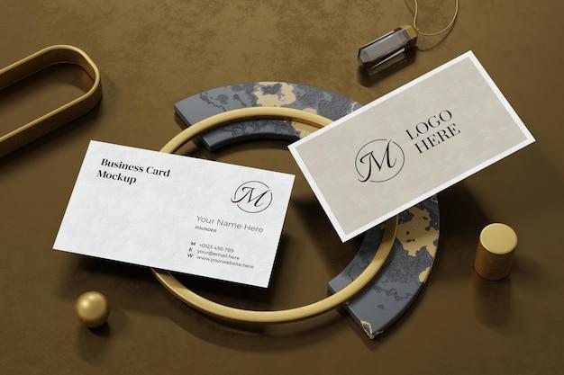 Visitenkarten-modellentwurf im 3d-rendering Premium PSD