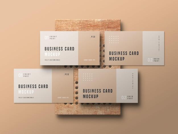 Visitenkarten-set-modell Kostenlosen PSD