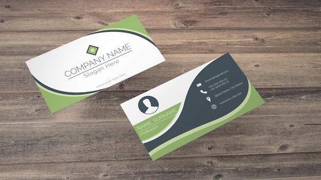 Visitenkartenmodell in eco-stil Kostenlosen PSD