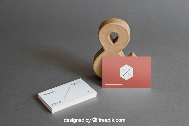 Visitenkartenmodell mit kaufmännischem und Kostenlosen PSD