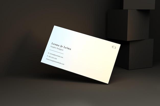 Visitenkartenmodell mit würfel Premium PSD
