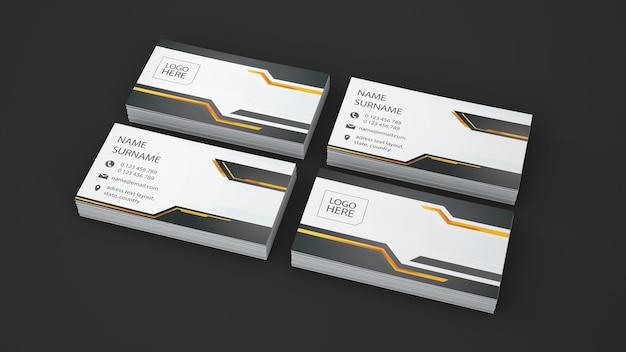 Visitenkartenschaukasten von vier stapeln Kostenlosen PSD