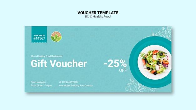 Vocuher vom restaurant mit gesundem essen Kostenlosen PSD