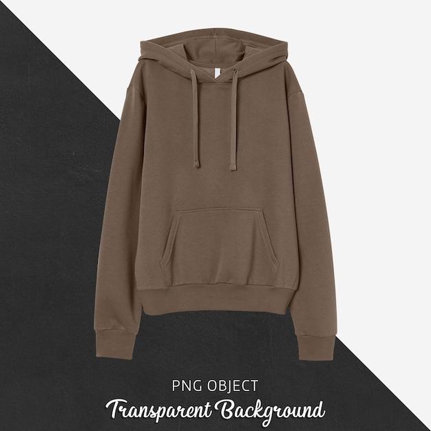 Vorderansicht des braunen hoodie-modells Premium PSD