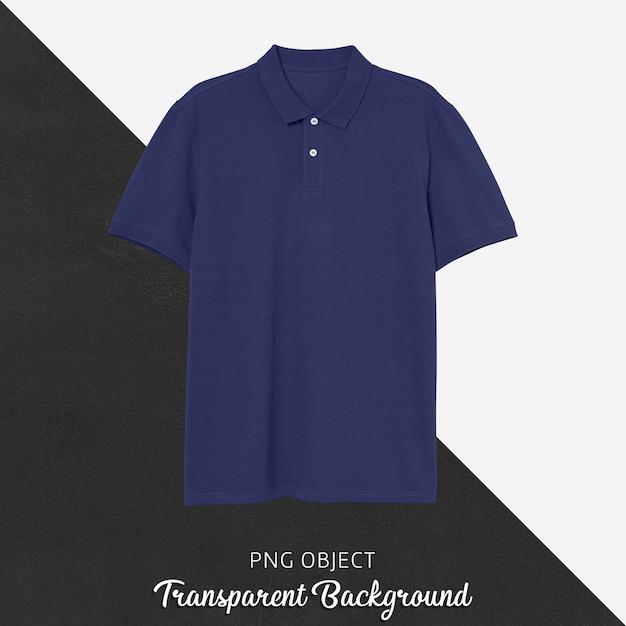 Vorderansicht des dunkelblauen polo-t-shirt-modells Premium PSD