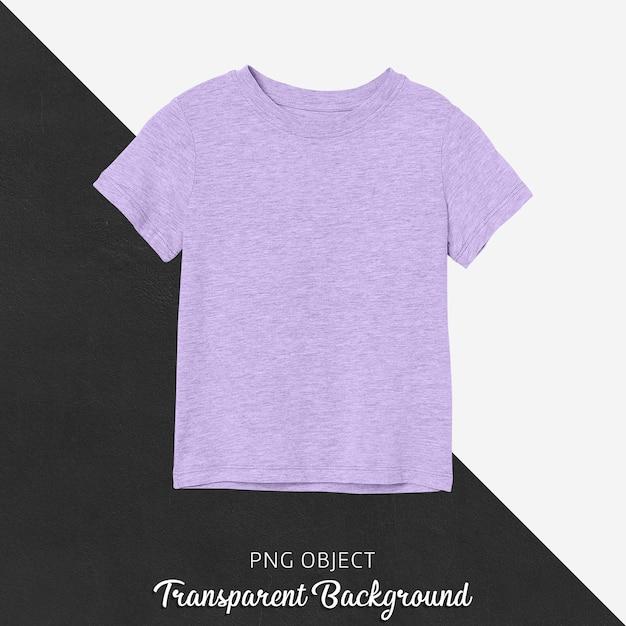 Vorderansicht des einfachen lila kinder-t-shirt-modells Premium PSD