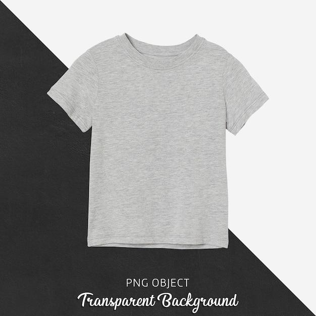 Vorderansicht des grauen grundkinder-t-shirt-modells Premium PSD