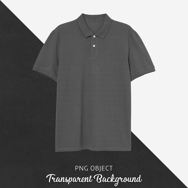 Vorderansicht des grauen polo-t-shirt-modells Premium PSD