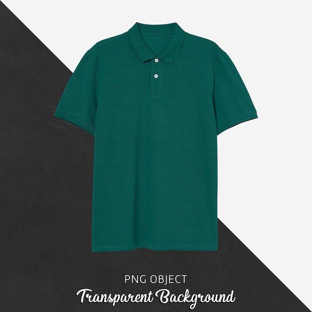 Vorderansicht des grünen polo-t-shirt-modells Premium PSD