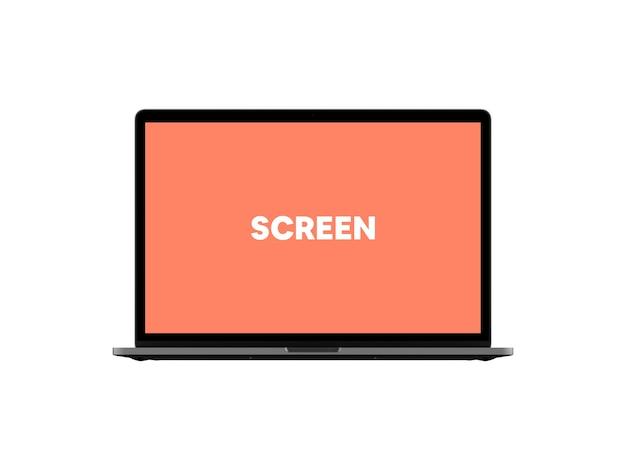 Vorderansicht laptop mockup # 2 Kostenlosen PSD