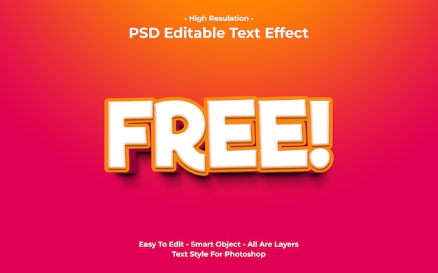 Vorlage des freitext-effekts Premium PSD