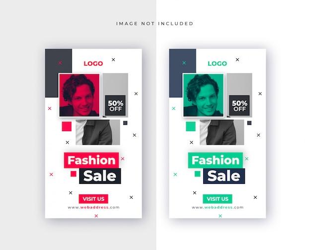 Vorlage des modeverkaufs für social-media-post Premium PSD